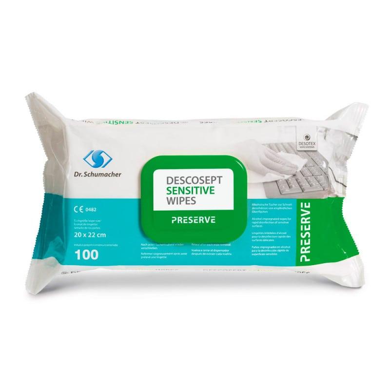 Descosept sensitive wipes mit breitem Wirkspektrum, 100 Stück