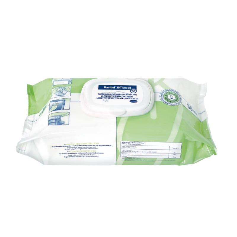 Bacillol 30 Tissues Desinfektionstücher von Hartmann im praktischen Flowpack