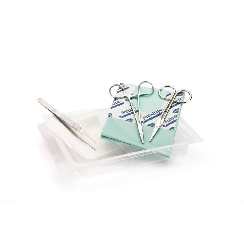 Wundnaht-Set mit Einweg-Materialien zur Legung einer chirurgischen Naht