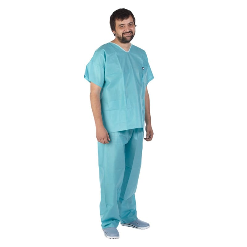 Teqler theatre scrubs | Disposable scrub set with tunic and trousers