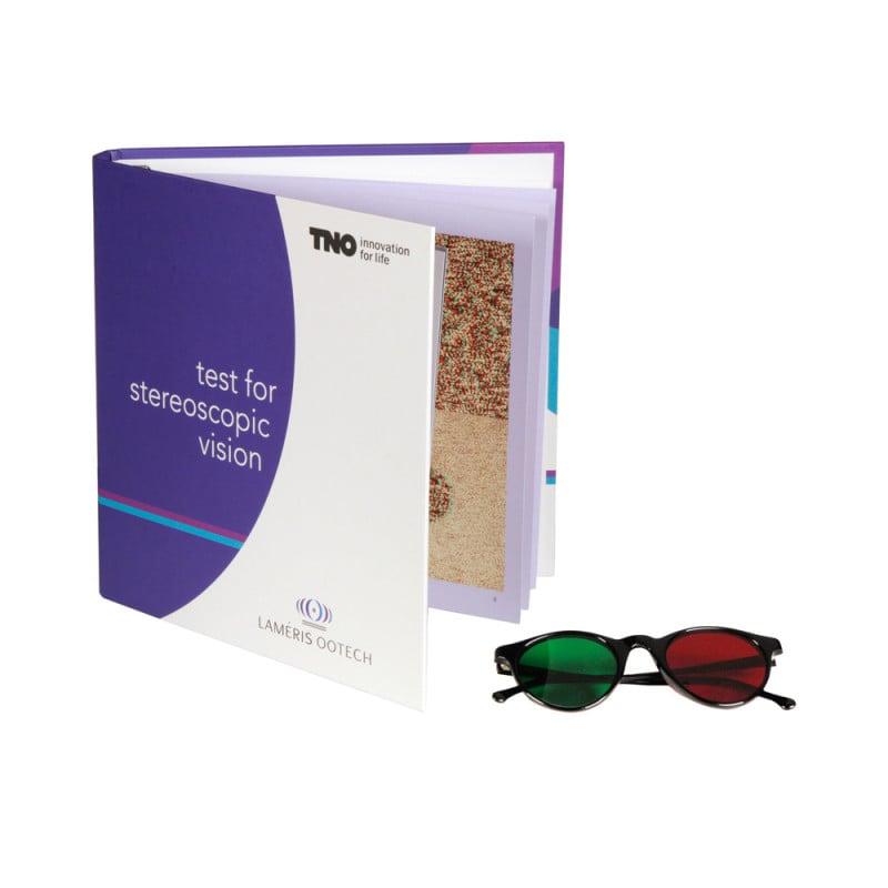 TNO Stereotest zur Überprüfung der Stereopsis, mit Rot-Grün Brille