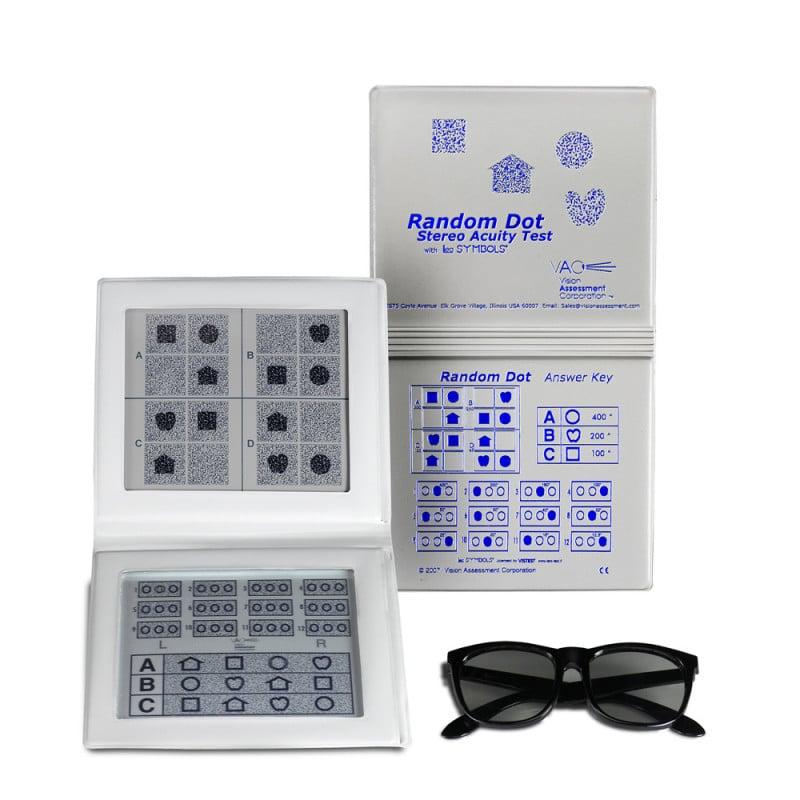 Random Dot Stereotest von Oculus mit Polarisationsbrile