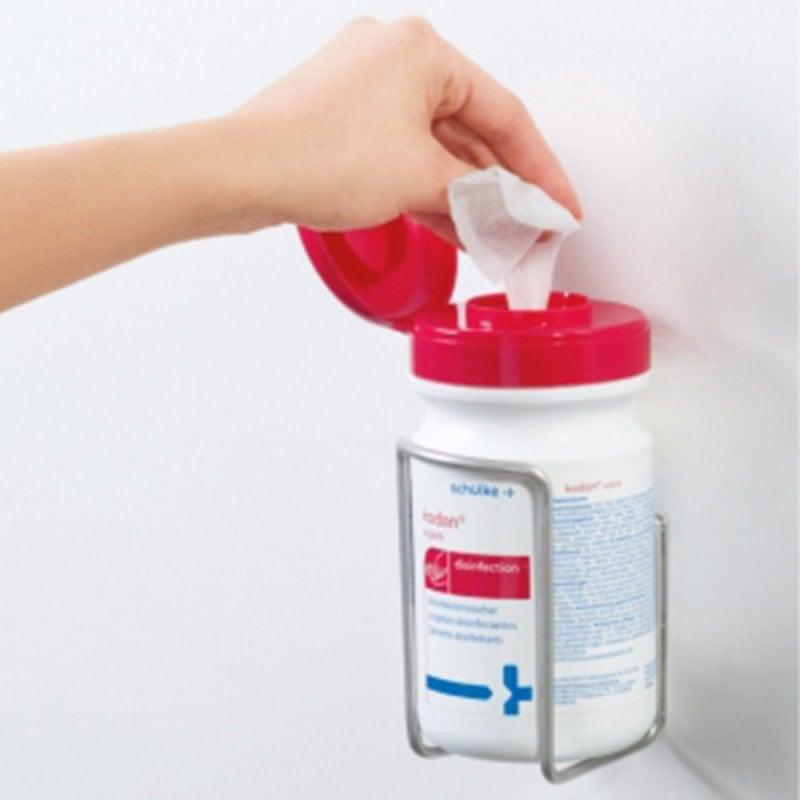 mikrozid/kodan wandhouder voor de eenhandige uitname van desinfectiedoekjes