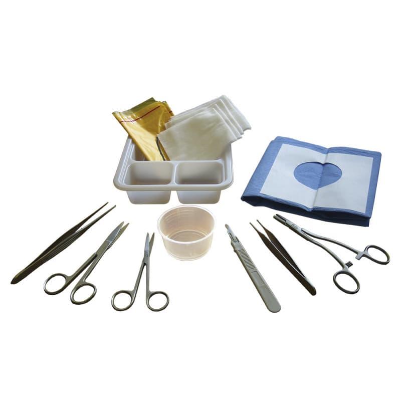 Biopsie-Set inklusive Einweginstrumenten, Kompressen und Abdeckungen