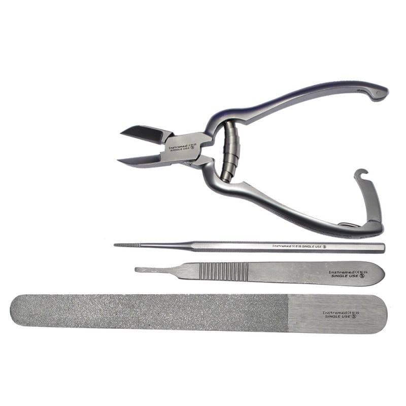 Podologie-Set mit hygienisch sicheren Einweginstrumenten