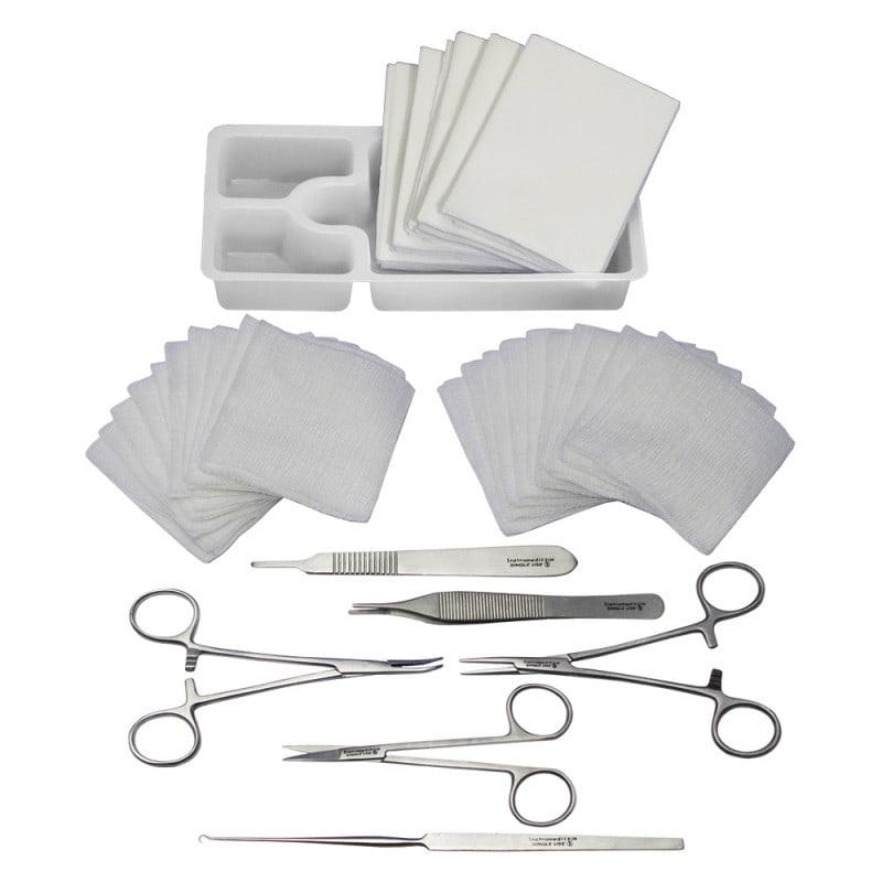 Dermatologie-Set zur Durchführung chirurgischer Eingriffe