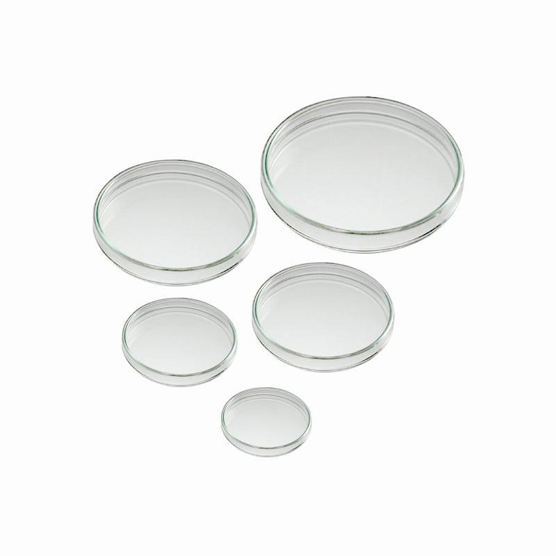 Schlierenfreie Petrischale aus hochwertigem Glas, bestehend aus Boden und Deckel