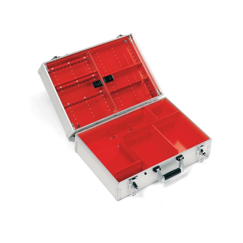 Ulmer Koffer II - robuster Notfallkoffer aus Aluminium mit flexibler Facheinteilung