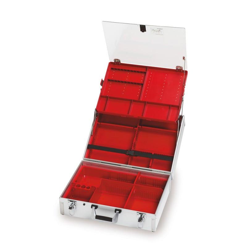Ulmer Koffer III in breiter Ausführung, übersichtlicher Notfallkoffer für die Notfallmedizin