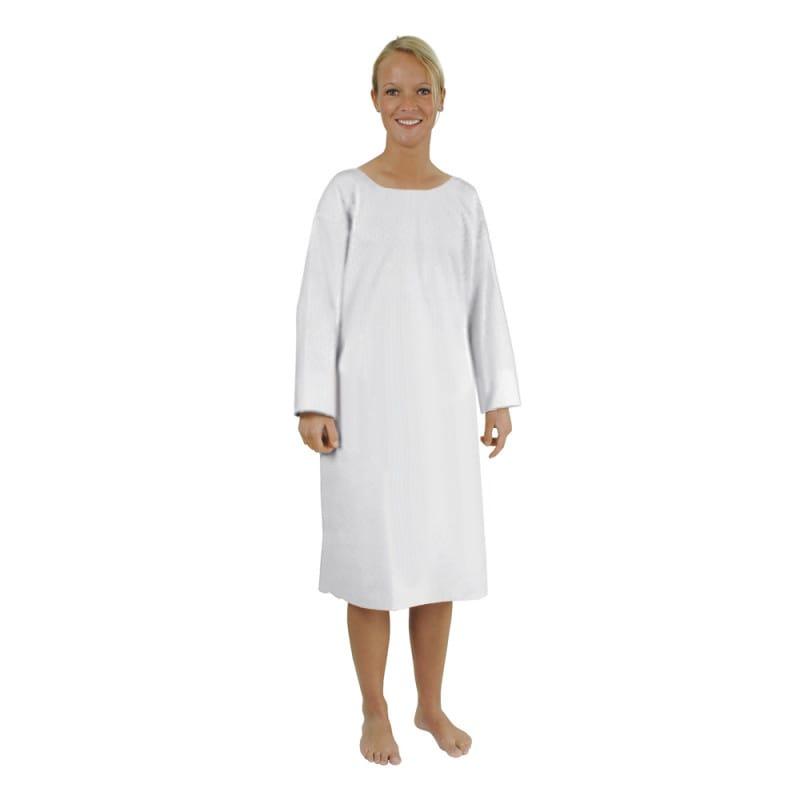 """Krankenhemd """"Mainau"""" in Standardform mit Rundhalsausschnitt und langem Arm"""