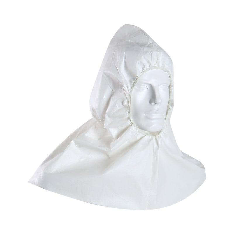 Einmal-Kapuze mit Gummizug am Gesichtsausschnitt - für einen sicheren Sitz
