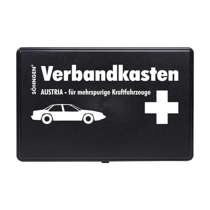 Kfz-Verbandskasten Österreich mit 20 Jahre haltbarer Bestückung gemäß ÖNORM V5101