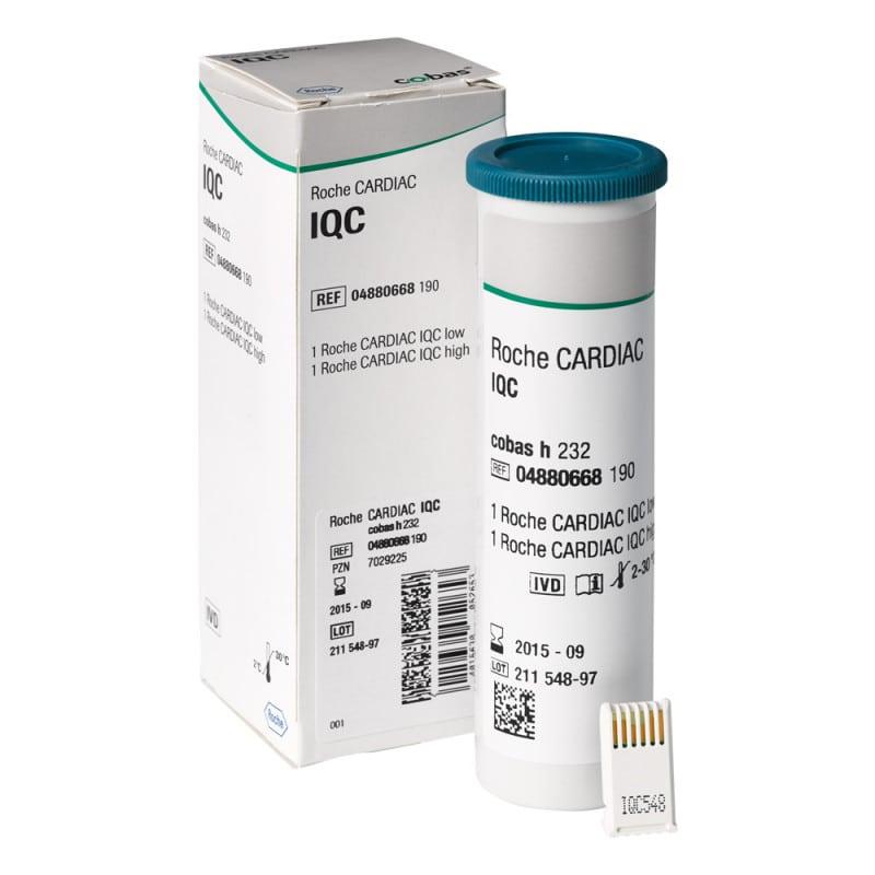 Roche CARDIAC IQC Test zur Kontrolle des optischen Systems des cobas h232