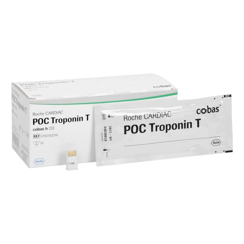 Tiras reactivas CARDIAC POC Troponin T de Roche para cobas h232