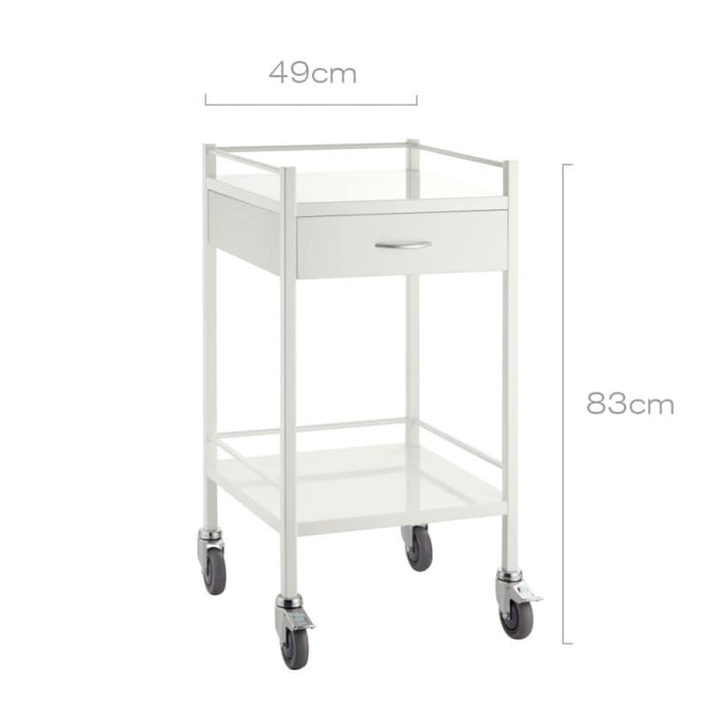 Chariot de cabinet avec un tiroir et 2 niveaux de rangement