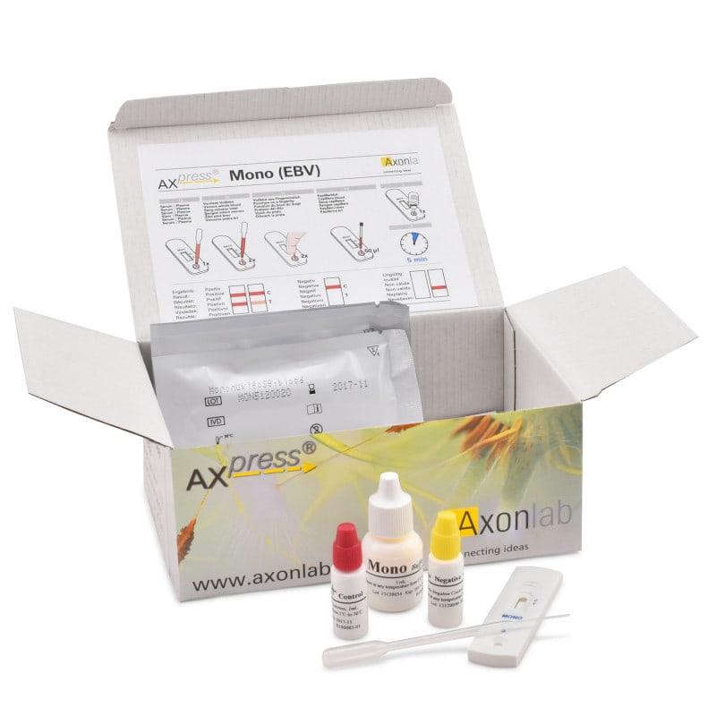 Prueba rápida de casete para mononucleosis, resultados en 5 minutos