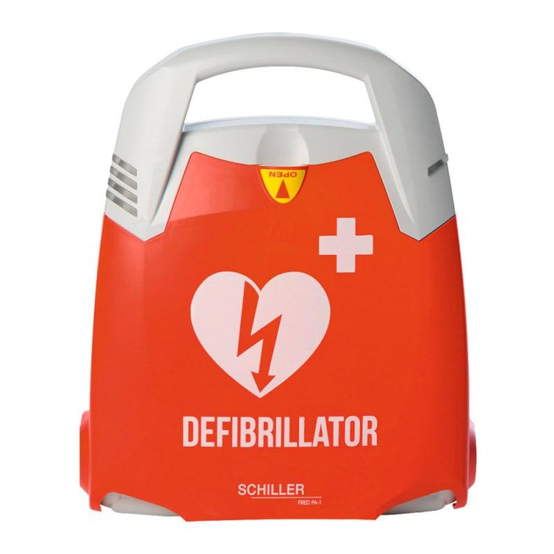 Schiller FRED PA-1 Defibrillator mit Sprachanweisung und Piktogramm