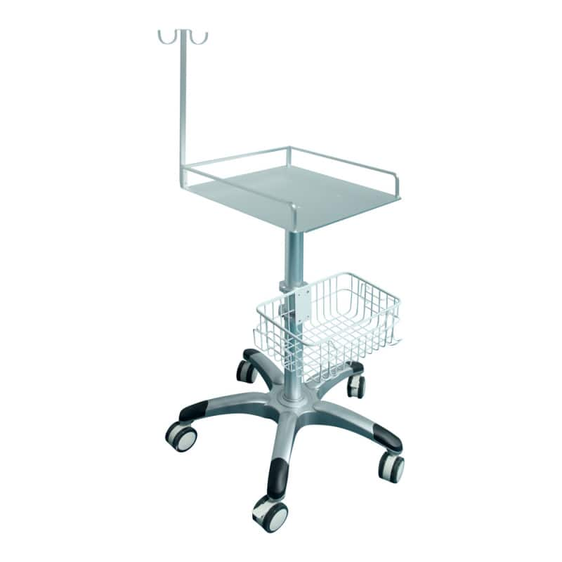 Trolley for the Biocare IE-6 ECG unit with suspension for patient leads