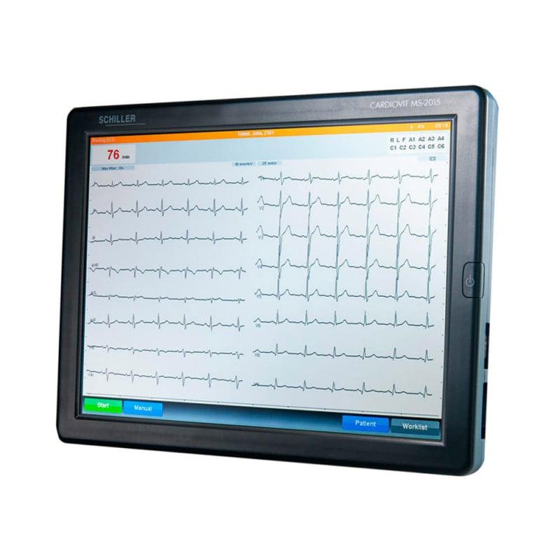 Schiller Cardiovit MS-2015 portable ECG machine