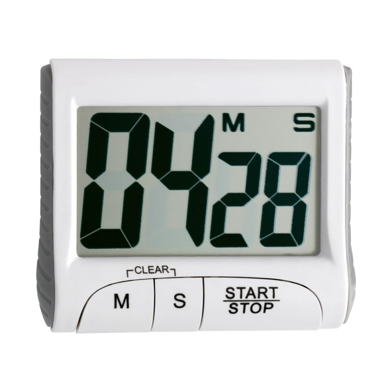 Digital-Timer mit extra großen Ziffern für eine optimale Ablesbarkeit