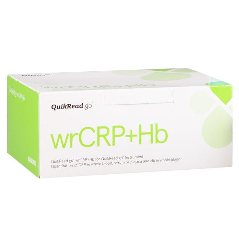 Gebrauchsfertiges QuikRead go wrCRP-Hb-Kit