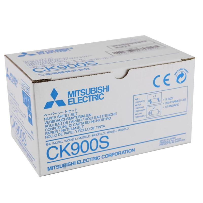 Zestaw Mitsubishi CK900S: 200 arkuszy papieru i pasujący nabój atramentowy