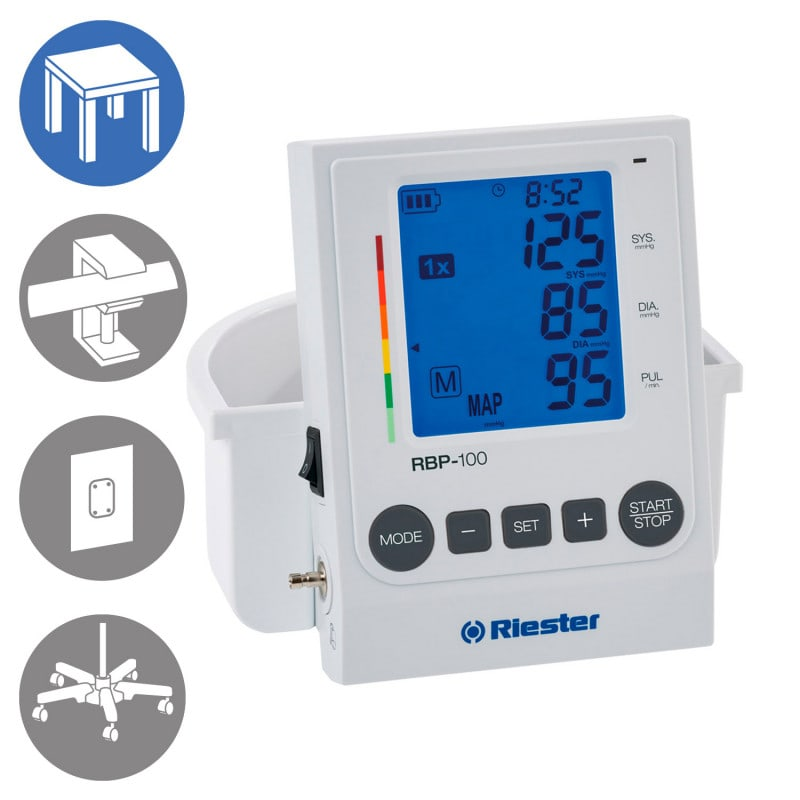 Riester RBP-100 Blutdruckmessgerät, Tisch-Modell mit Manschettenkorb