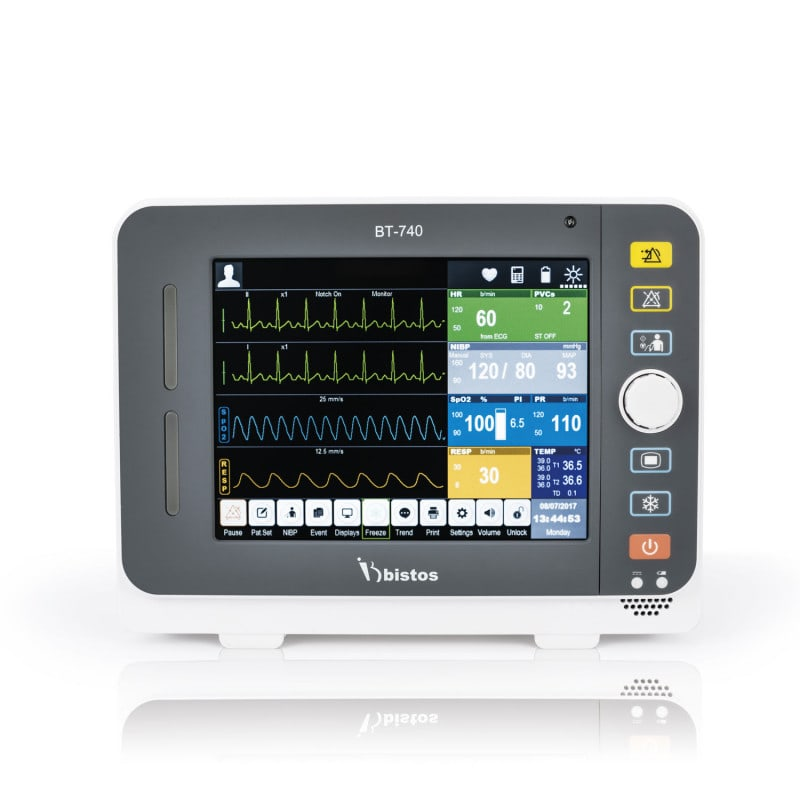 """Bistos BT-740 patient monitor with 8.4"""" colour touchscreen"""