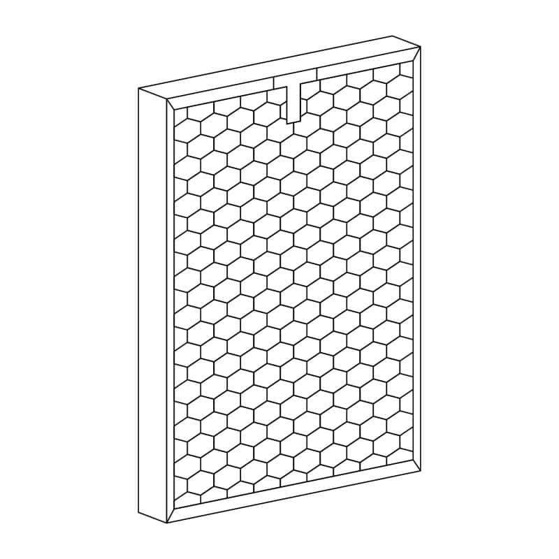Replacement filter for the AiroDocter air purifier