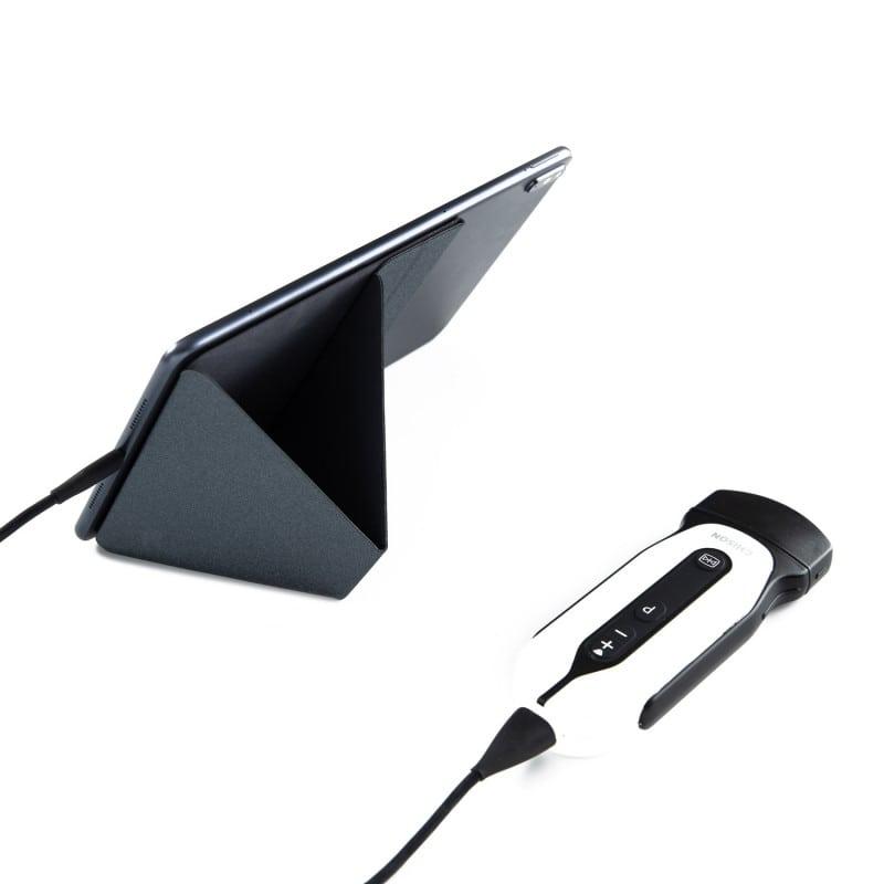 Tablet-Ständer für das Chison «SonoEye», ideal für einen optimale Betrachtungswinkel während der Sonographie