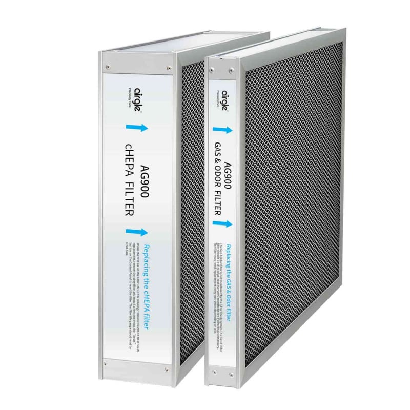 Airgle cHEPA and activated carbon filter set for either the AG600 or AG900 Air Purifier