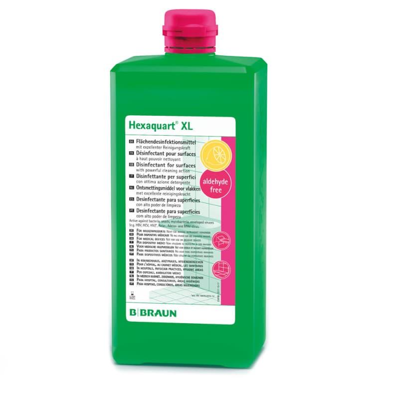 Hexaquart XL pour le nettoyage et la désinfection des stocks et des surfaces