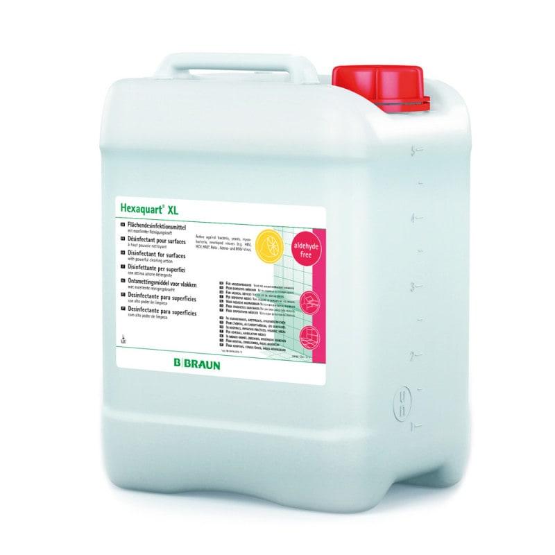 Hexaquart XL para la limpieza y desinfección de mobiliario y superficies