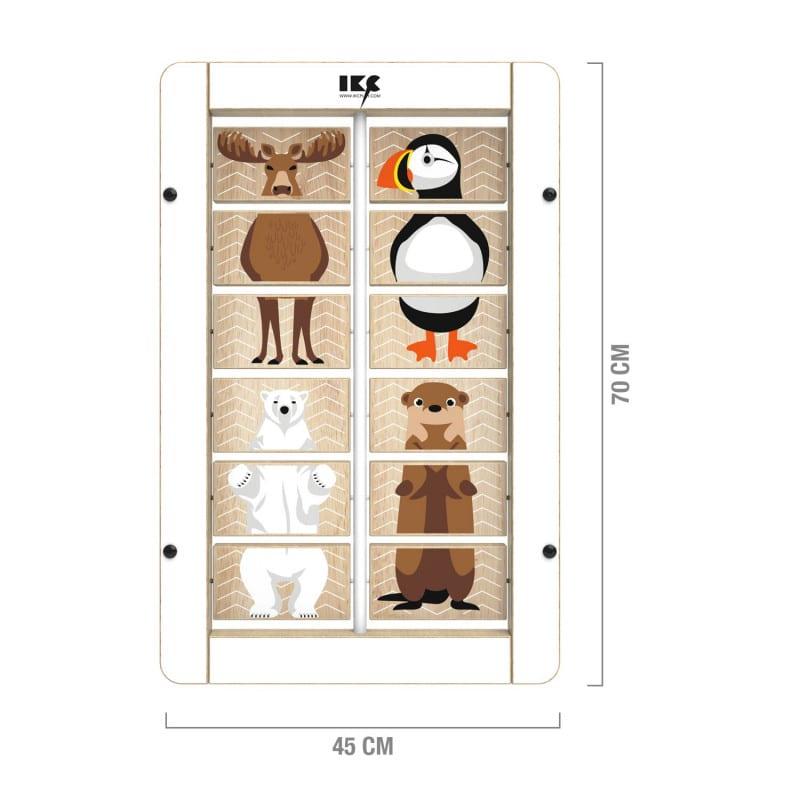 IKC Spielplatte «Tiermixer» - Sortierspiel mit vier Tiermotiven