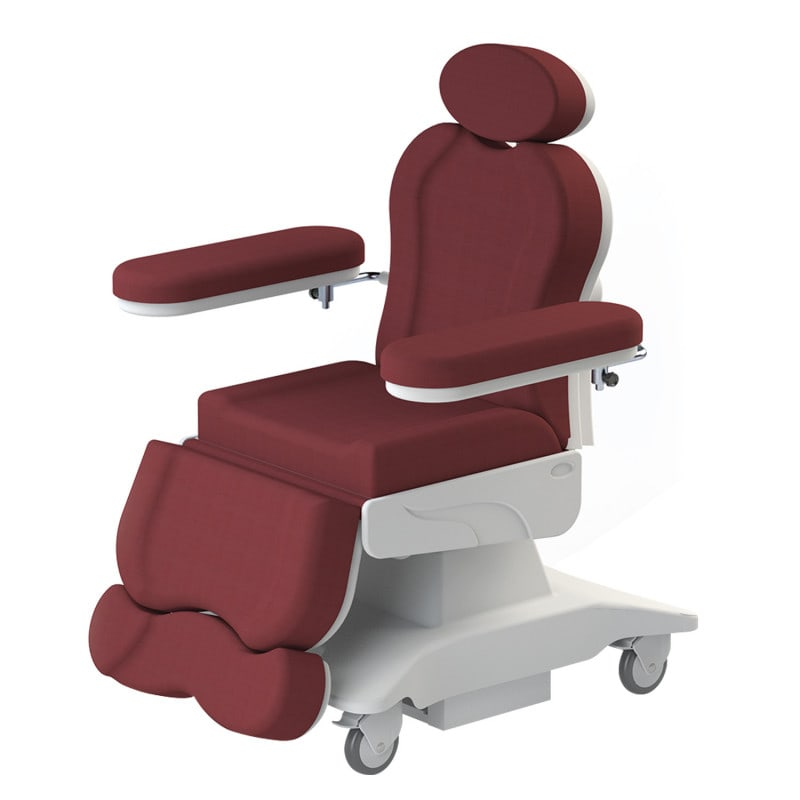 Mobile Avangarde blood transfusion chair with 4 high performance motors