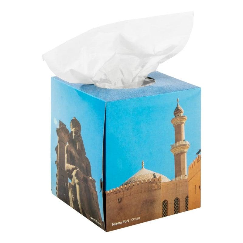 Teqler Tissue Box mit 100 weichen Zellstoff-Tüchern