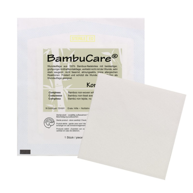 BambuCare compresses made from the renewable material bamboo