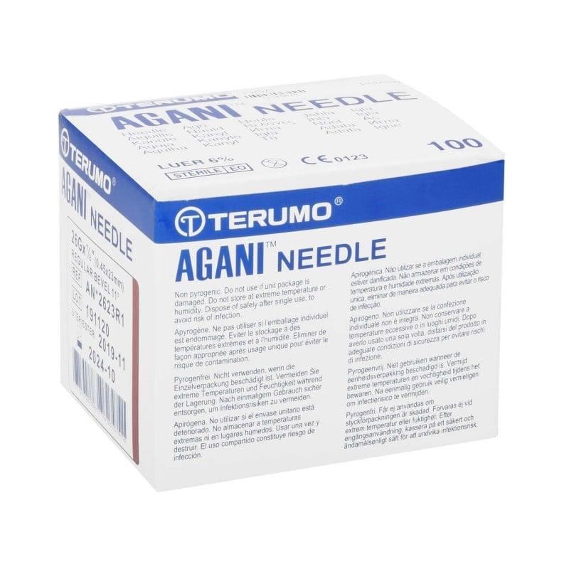 Terumo Agani wegwerpcanules met kleurgecodeerde Luer-Lock-aansluiting