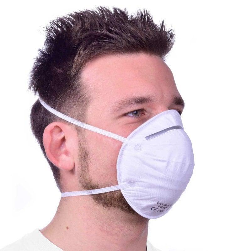 FFP2-mondmasker met filterfunctie, zonder ventiel