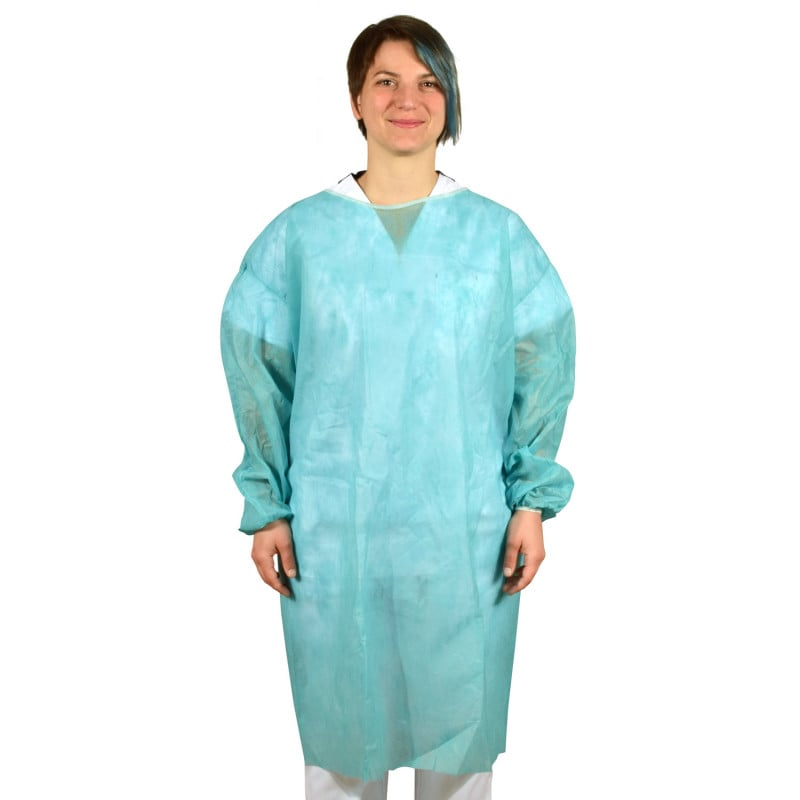 Single-use surgical gown made from PP fleece, approx. 100cm