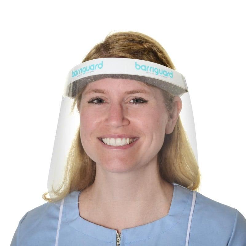 Barriguard Gesichtsschutz mit gepolsterter Stirnauflage und breitem Elastikband