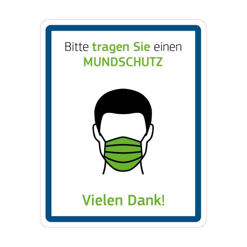 Hinweisschild mit Hygienehinweis für Patienten und Besucher