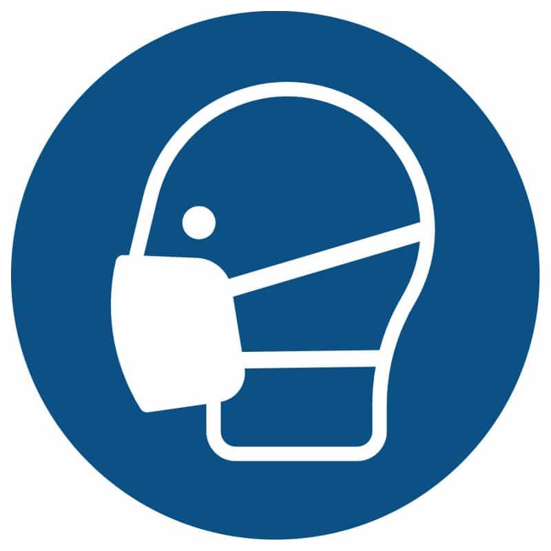 Gebodsbord «gebruik lichte adembescherming». Naar keuze verkrijgbaar als forex bord of sticker