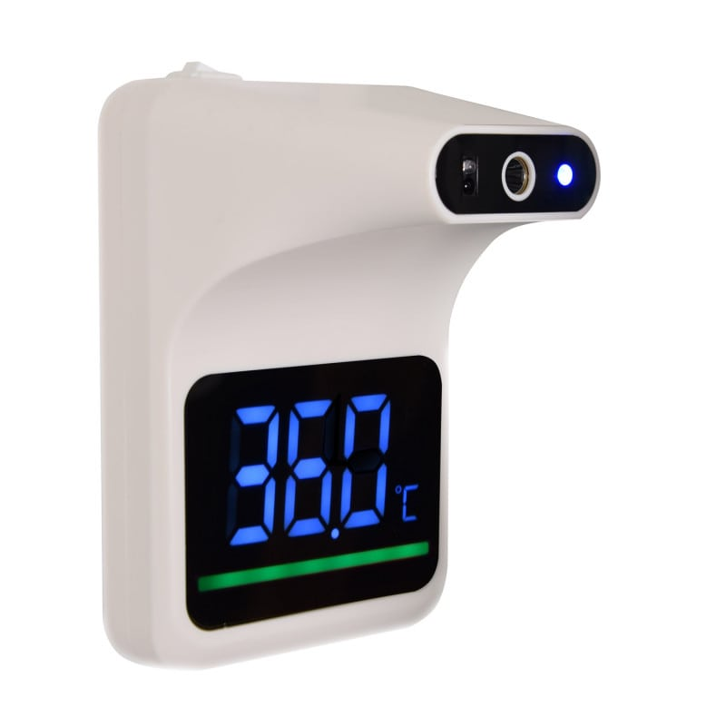 Infrared wall thermometer for contactless, hygienic temperature measurement at the forehead