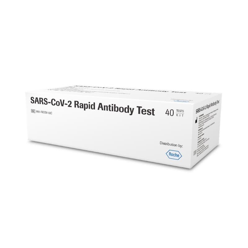Test rápido de anticuerpos del SARS-CoV-2 de Roche, 1 caja con 40 tiras reactivas