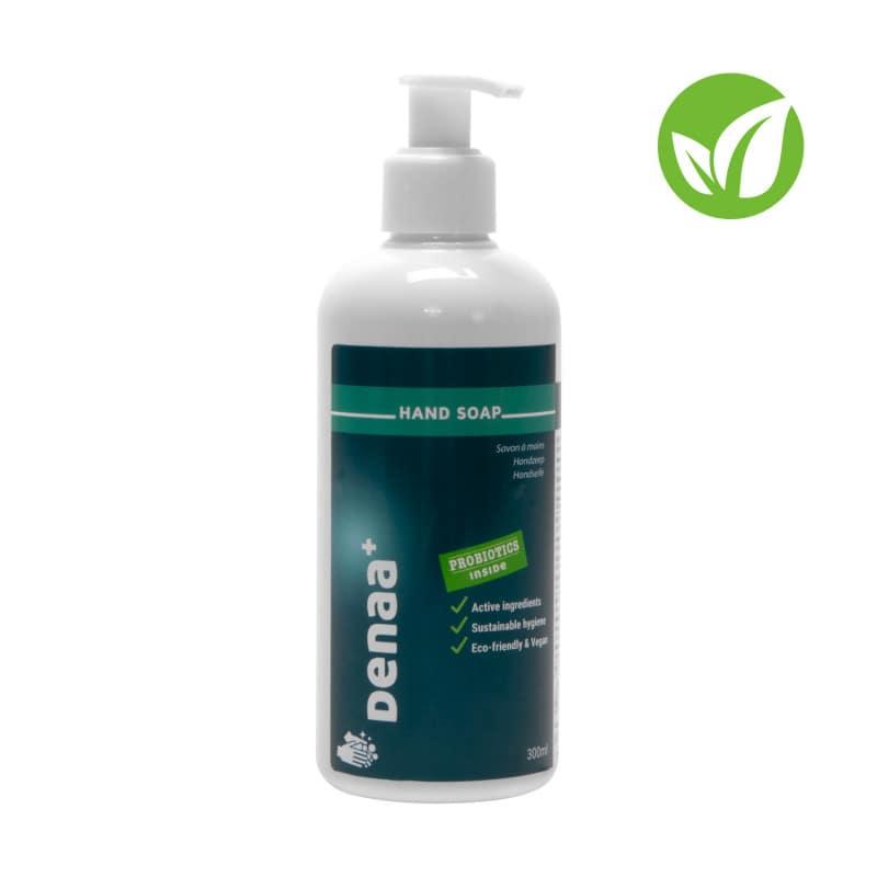 Jabón de manos DENAA+ con microorganismos activos para la limpieza microscópica de manos