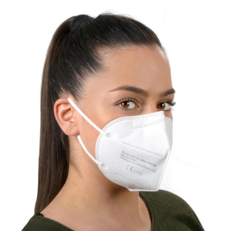 Máscara FFP2 plegable sin válvula, protege contra el polvo, los aerosoles y las partículas de hasta 0,6 µm