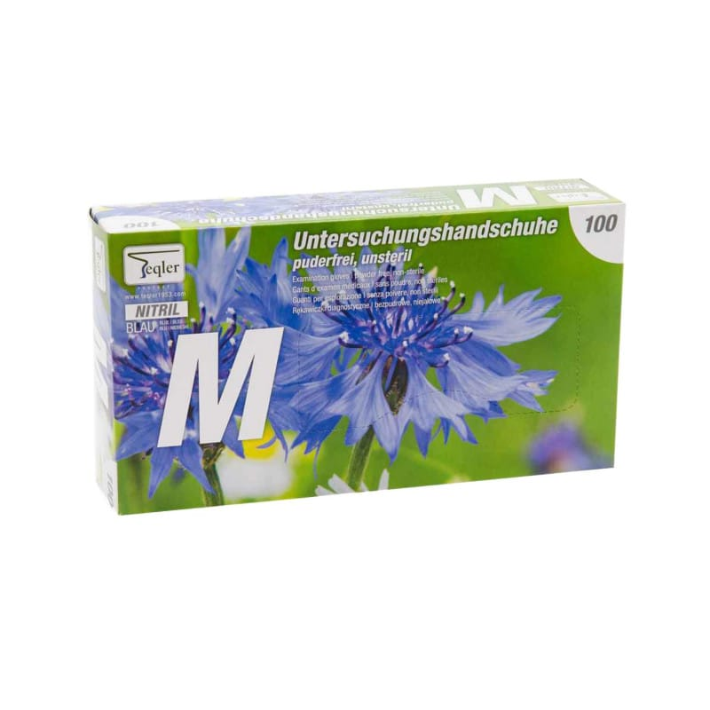 Powder-free nitrile examination gloves, pack of 100