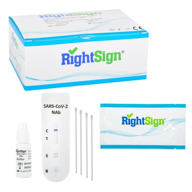 RightSign szybki test na przeciwciała neutralizujące anty-SARS-CoV-2