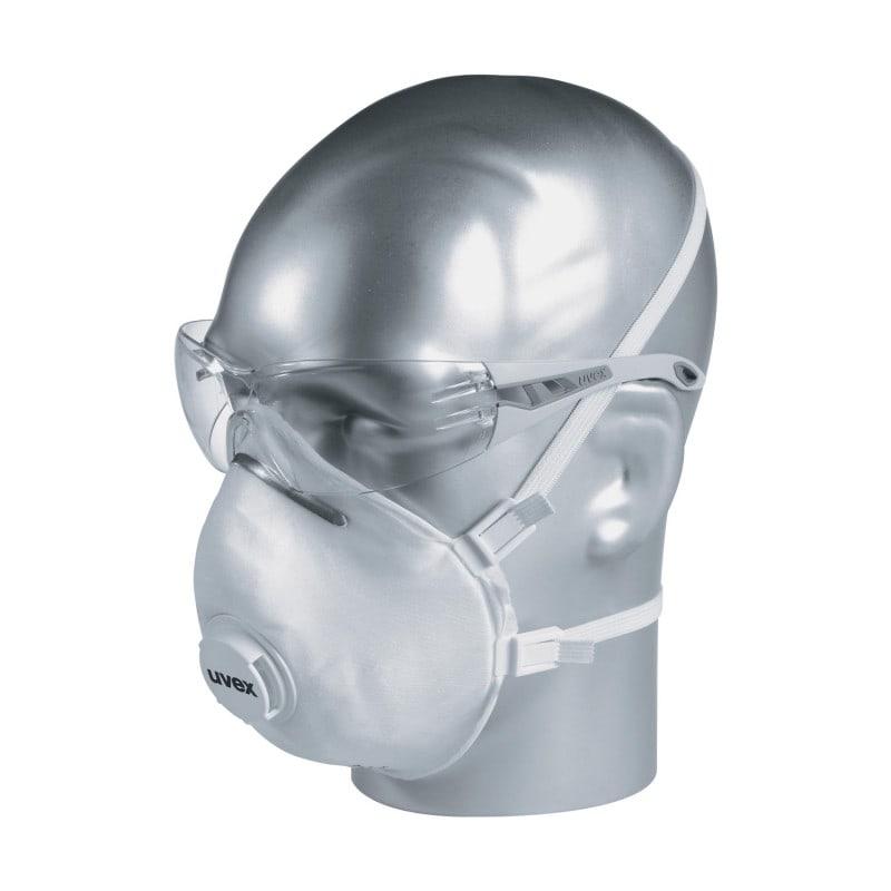 Masque FFP3 uvex silv-Air avec joint lèvre circonférentiel souple et valve d'expiration